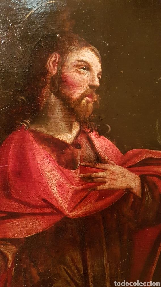 Arte: ESCUELA FLAMENCA SIGLO XVI ( 1580 ). OLEO SOBRE TABLA EN ROBLE DE AMBERES. JESÚS EN EL HUERTO. - Foto 5 - 176780552