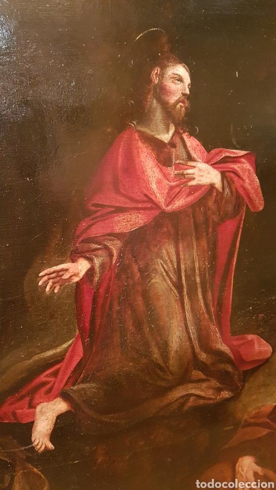 Arte: ESCUELA FLAMENCA SIGLO XVI ( 1580 ). OLEO SOBRE TABLA EN ROBLE DE AMBERES. JESÚS EN EL HUERTO. - Foto 6 - 176780552