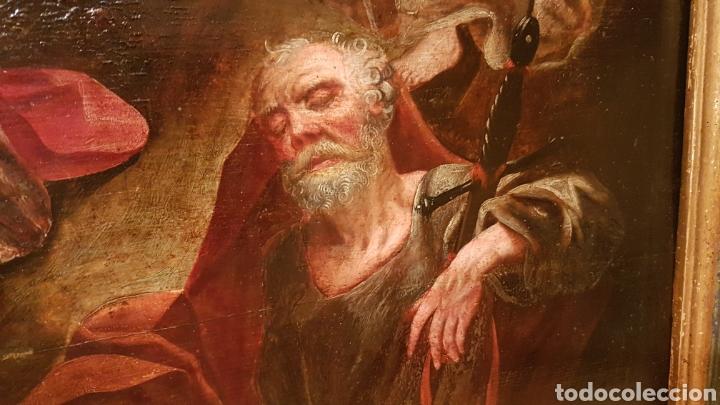Arte: ESCUELA FLAMENCA SIGLO XVI ( 1580 ). OLEO SOBRE TABLA EN ROBLE DE AMBERES. JESÚS EN EL HUERTO. - Foto 8 - 176780552