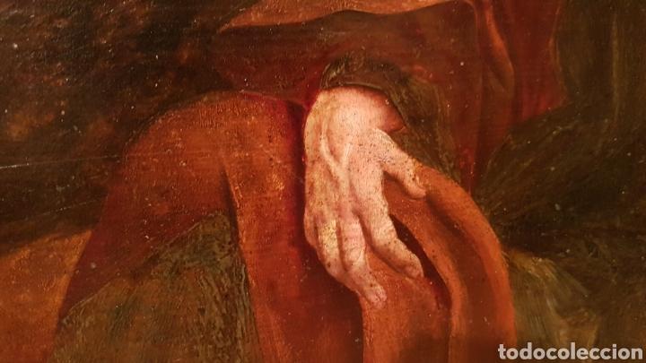 Arte: ESCUELA FLAMENCA SIGLO XVI ( 1580 ). OLEO SOBRE TABLA EN ROBLE DE AMBERES. JESÚS EN EL HUERTO. - Foto 9 - 176780552