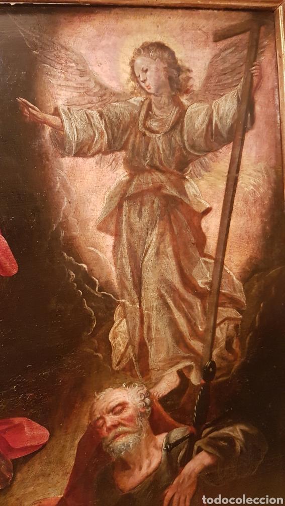 Arte: ESCUELA FLAMENCA SIGLO XVI ( 1580 ). OLEO SOBRE TABLA EN ROBLE DE AMBERES. JESÚS EN EL HUERTO. - Foto 10 - 176780552