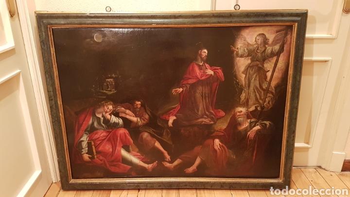 ESCUELA FLAMENCA SIGLO XVI ( 1580 ). OLEO SOBRE TABLA EN ROBLE DE AMBERES. JESÚS EN EL HUERTO. (Arte - Pintura - Pintura al Óleo Antigua siglo XVI)