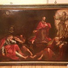 Arte: ESCUELA FLAMENCA SIGLO XVI ( 1580 ). OLEO SOBRE TABLA EN ROBLE DE AMBERES. JESÚS EN EL HUERTO.. Lote 176780552