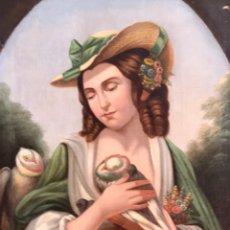 Arte: ESCUELA ITALIANA S XVIII, ÓLEO SOBRE LIENZO, 103X90X9 (MARCO), 65X79. Lote 176818449