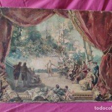 Arte: ÓLEO SOBRE LIENZO, BOCETO DEL TEATRO PINCIPAL DE CARTAGENA, WSSEL, 1000-081. Lote 176835694