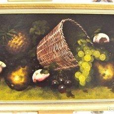Arte: BODEGON AL OLEO FIRMADO Y FECHADO 1936 CON MARCO. Lote 176854880