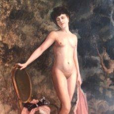 "Arte: CÍRCULO DE DELPHIN ENJOLRAS FIN XIX PRINCIPIOS XX, ""NU FEMININ""', ÓLEO SOBRE LIENZO, 73X100. Lote 176855257"