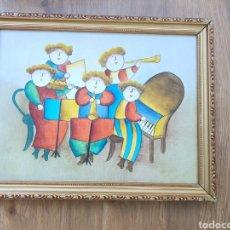 Arte: CUADRO MUSICAL FIRMADO. Lote 176864537