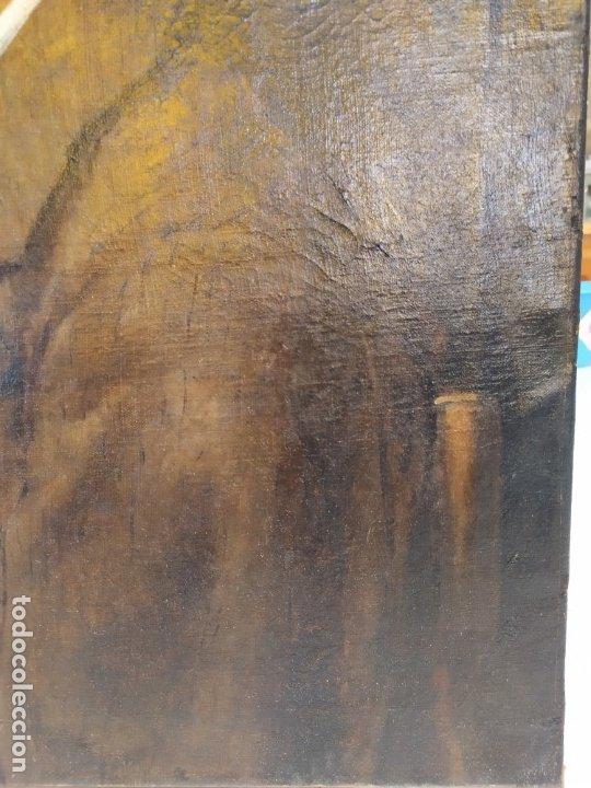 Arte: óleo en lienzo de un caballero de finales del siglo XIX escuela valenciana - Foto 4 - 176865679