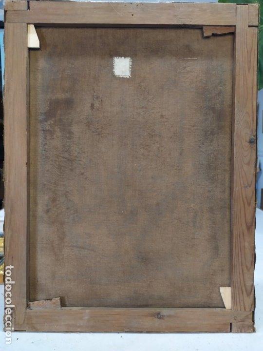 Arte: óleo en lienzo de un caballero de finales del siglo XIX escuela valenciana - Foto 9 - 176865679