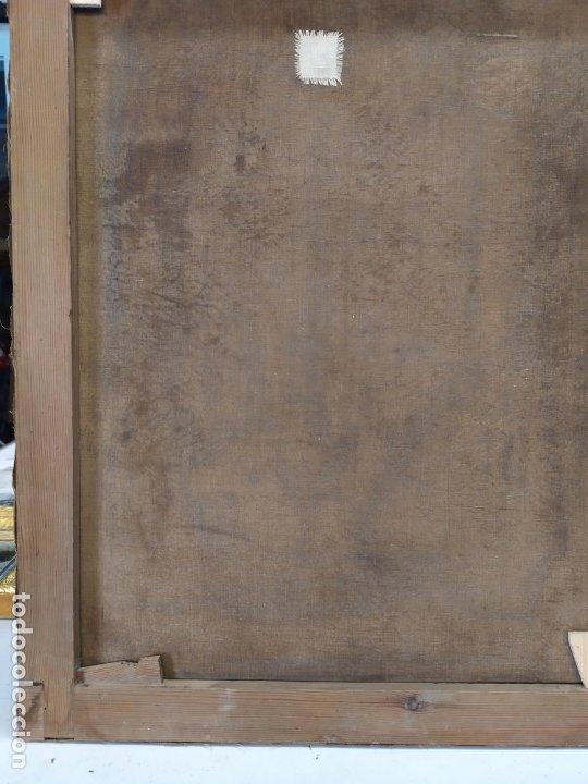 Arte: óleo en lienzo de un caballero de finales del siglo XIX escuela valenciana - Foto 10 - 176865679