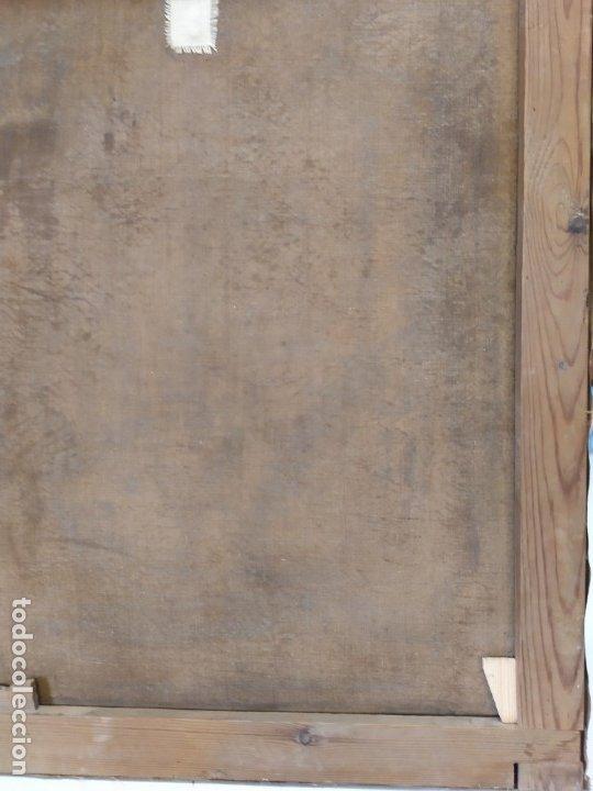 Arte: óleo en lienzo de un caballero de finales del siglo XIX escuela valenciana - Foto 11 - 176865679