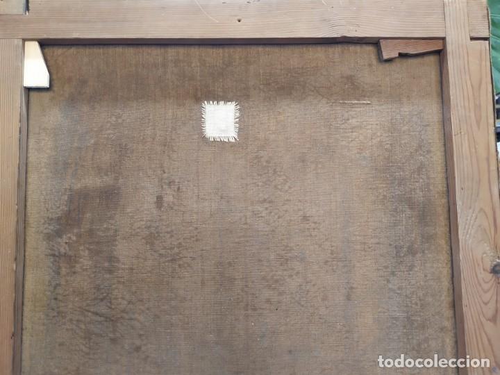 Arte: óleo en lienzo de un caballero de finales del siglo XIX escuela valenciana - Foto 12 - 176865679