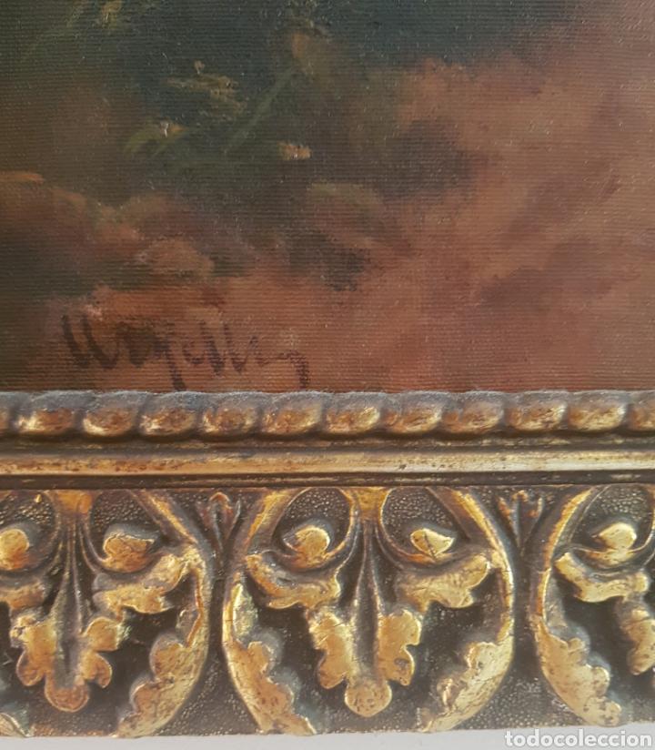 Arte: Urgellés (XIX) - Paisaje con Masía.Escaleta.Oleo/tela.Firmado. - Foto 4 - 176866145