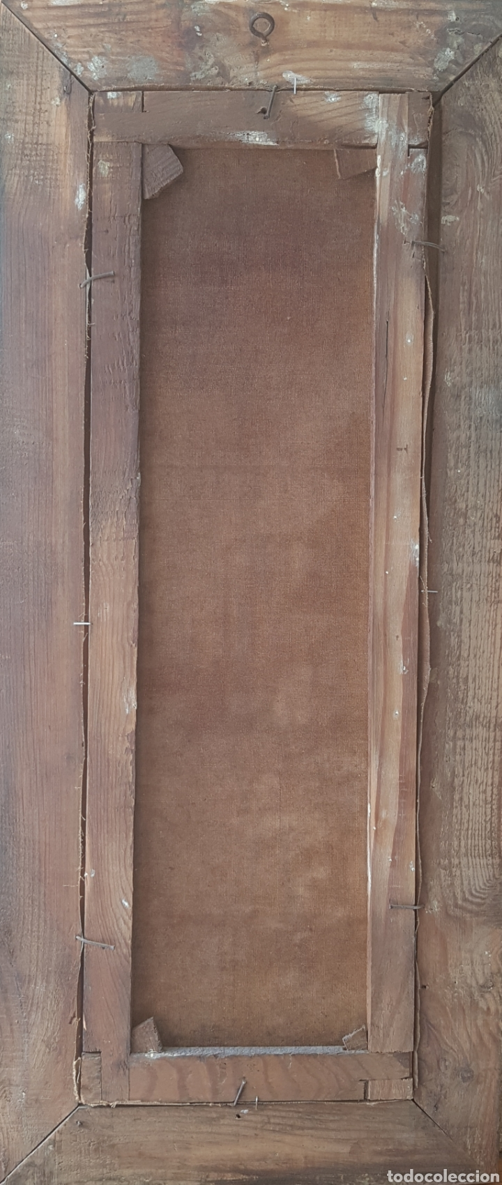 Arte: Urgellés (XIX) - Paisaje con Masía.Escaleta.Oleo/tela.Firmado. - Foto 5 - 176866145