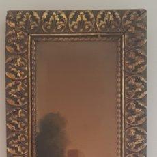 Arte: URGELLÉS (XIX) - PAISAJE CON MASÍA.ESCALETA.OLEO/TELA.FIRMADO.. Lote 176866145