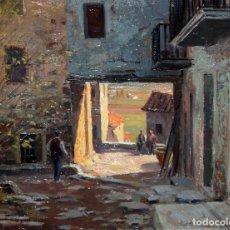 Arte: JULI BATALLE MURLA (SANT ESTEVE D'EN BAS, 1926) OLEO SOBRE TELA. PAISAJE RURAL. Lote 176902164