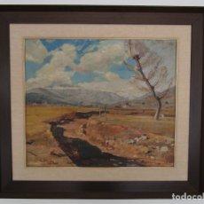 Arte: RAMÓN BARNADAS (OLOT 1909 - GIRONA 1981) - ÓLEO SOBRE TELA - PAISAJE DE OLOT - AÑO 1932. Lote 176920213