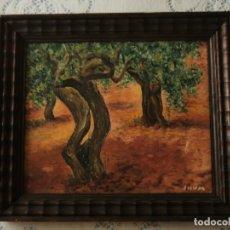 Arte: SHUM, JUAN BAUTISTA ACHER, ALFONS VILA - ÁRBOLES. PAISAJE ÓLEO FIRMADO SHUM. Lote 176925018