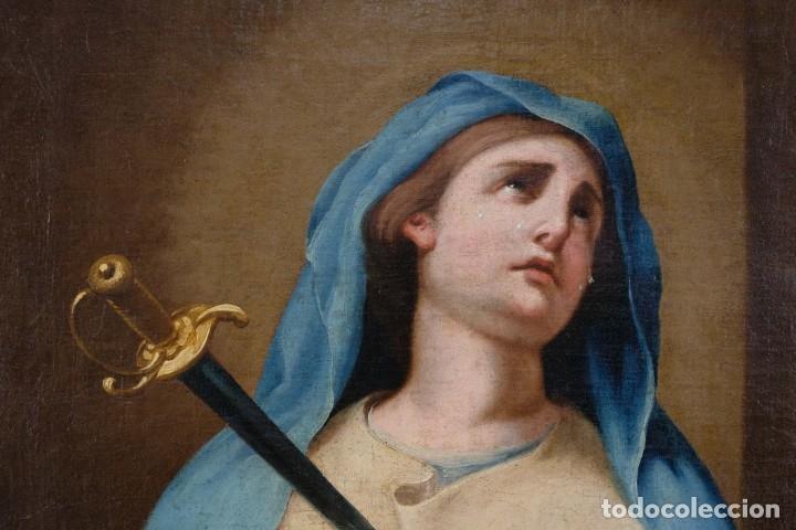 Arte: Óleo sobre lienzo Virgen dolorosa finales siglo XVIII principios siglo XIX - Foto 2 - 176974020