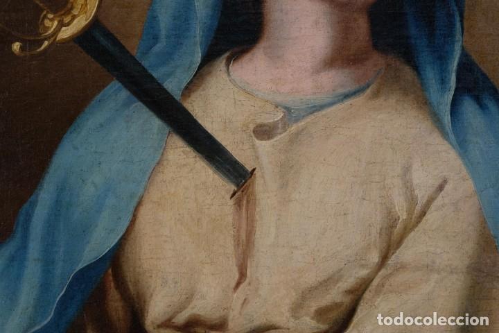 Arte: Óleo sobre lienzo Virgen dolorosa finales siglo XVIII principios siglo XIX - Foto 3 - 176974020