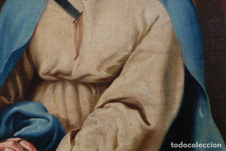 Arte: Óleo sobre lienzo Virgen dolorosa finales siglo XVIII principios siglo XIX - Foto 4 - 176974020