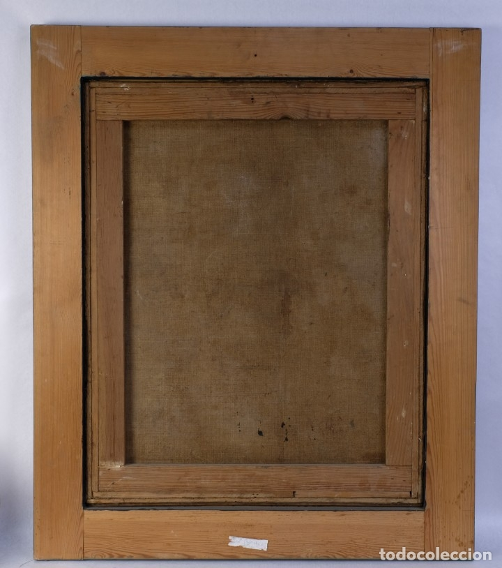 Arte: Óleo sobre lienzo Virgen dolorosa finales siglo XVIII principios siglo XIX - Foto 8 - 176974020