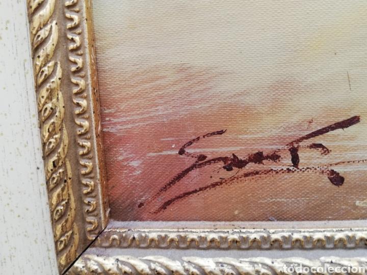 Arte: Precioso cuadro de pintura a mano firmada con marco de madera tema de playa estilo Sorolla - Foto 3 - 186310597