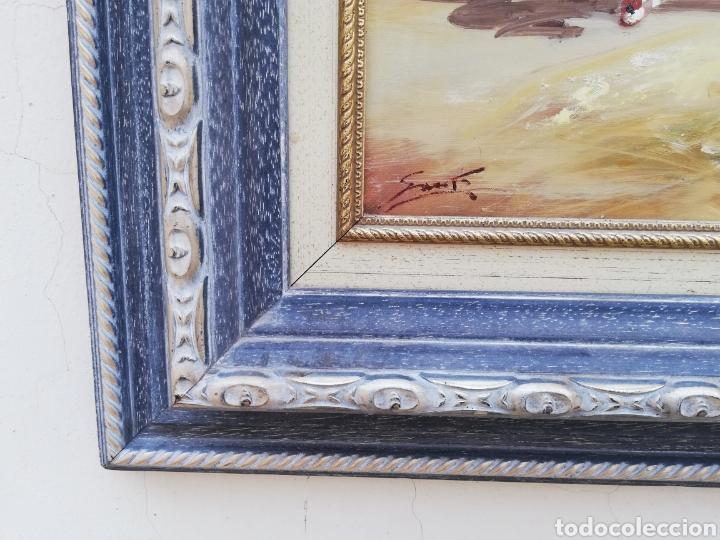 Arte: Precioso cuadro de pintura a mano firmada con marco de madera tema de playa estilo Sorolla - Foto 8 - 186310597