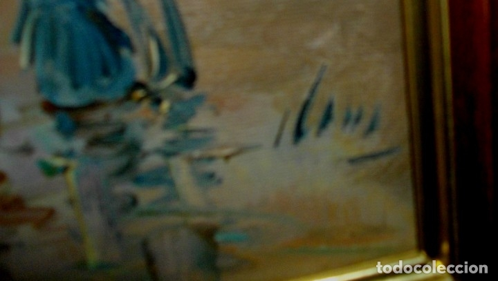 Arte: OLEO IMPRESIONISTA SOBRE LIENZO FIRMADO ¿ CON MARCO (( MIDE 66 X 57 CTMS ))) - Foto 8 - 177075587