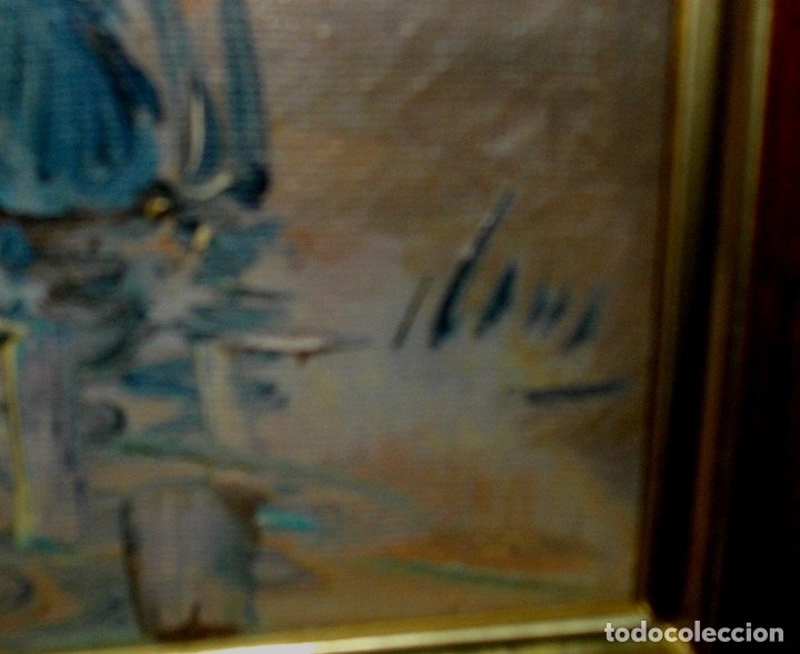 Arte: OLEO IMPRESIONISTA SOBRE LIENZO FIRMADO ¿ CON MARCO (( MIDE 66 X 57 CTMS ))) - Foto 2 - 177075587