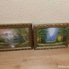 Arte: 2 CUADROS AL OLEO ENMARCADOS 47 X 38 CM. Lote 177079350