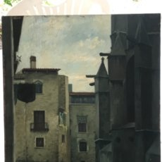 Arte: FRANCISCO PEIRO MARTIN 1946 OLEO SOBRE MADERA. BARCELONA. . Lote 177089547
