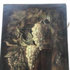 Arte: GRAN BODEGÓN DE RACIMOS DE UVA OLEO SOBRE LIENZO. MEDIADOS DEL S.XX. ANÓNIMO. . Lote 177090015