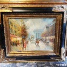 Arte: VISTA DE PARIS OLEO. Lote 177096403