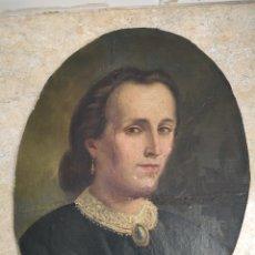 Arte: RETRATO DE MUJER SIGLO XIX, ÉPOCA VICTORIANA, ISABELINA, NAPOLEÓN III. Lote 177262763