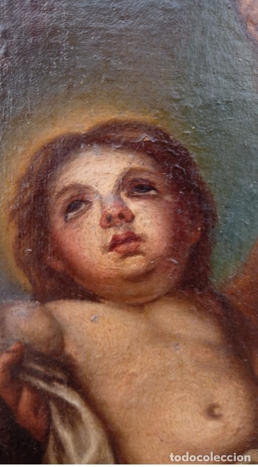 Arte: ÓLEO S/LIENZO -SAN JOSÉ CON EL NIÑO-. ESCUELA BARROCA SEVILLANA S. XVII. DIM.- 70X58.5 CMS - Foto 3 - 177297373