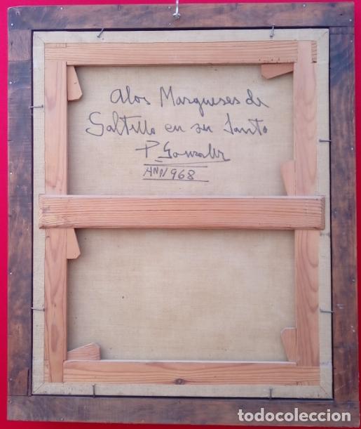 Arte: ÓLEO S/LIENZO -SAN JOSÉ CON EL NIÑO-. ESCUELA BARROCA SEVILLANA S. XVII. DIM.- 70X58.5 CMS - Foto 8 - 177297373