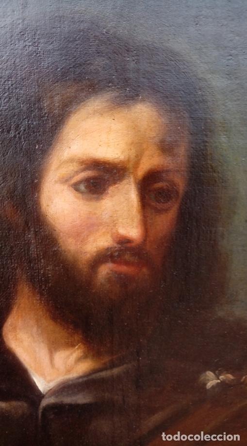 Arte: ÓLEO S/LIENZO -SAN JOSÉ CON EL NIÑO-. ESC BARROCA SEVILLANA S. XVII, CÍRCULO MURILLO. 135.5X96 CMS - Foto 7 - 177316400