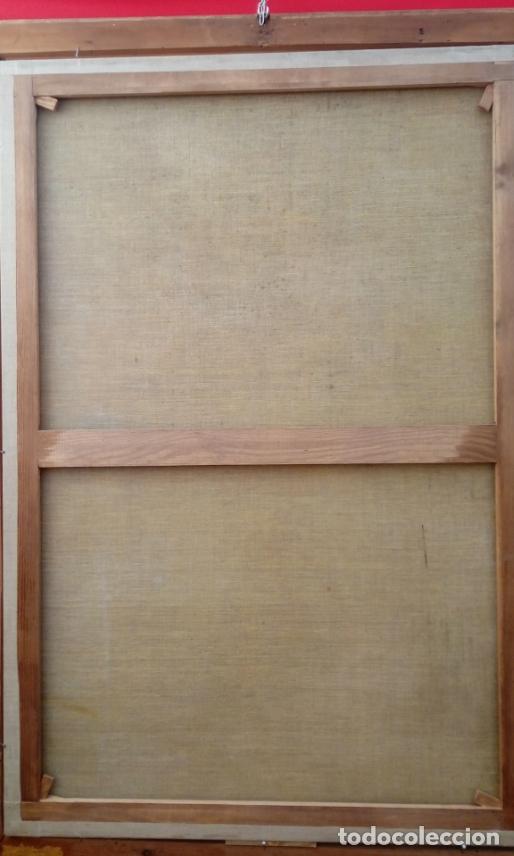 Arte: ÓLEO S/LIENZO -SAN JOSÉ CON EL NIÑO-. ESC BARROCA SEVILLANA S. XVII, CÍRCULO MURILLO. 135.5X96 CMS - Foto 12 - 177316400