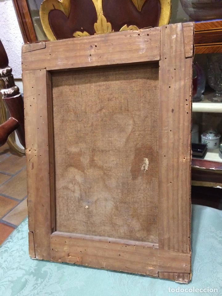 Arte: Virgen con niño Oleo sobre lienzo - Foto 3 - 177385529