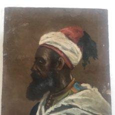 Arte: RETRATO ORIENTALISTA- OLEO SOBRE MADERA. JOSEP TAPIRÓ? FINALES S.XIX. . Lote 177395422