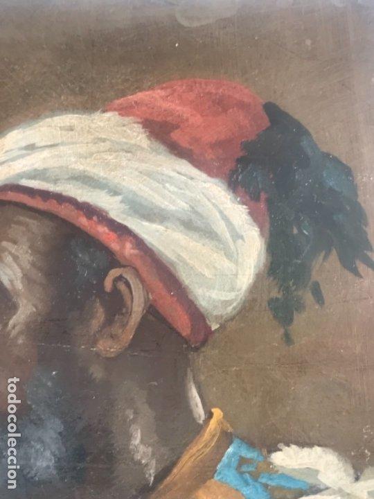 Arte: RETRATO ORIENTALISTA- OLEO SOBRE MADERA. JOSEP TAPIRÓ? FINALES S.XIX. - Foto 7 - 177395422