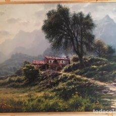 Arte: PRECIOSO PAISAJE DE COLLDECARRERA LLENO DE LUZ.. Lote 177401419