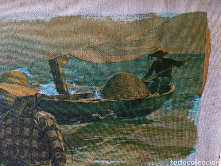 Arte: CUADRO ( SOROLLA - LABORT. FERRER ), ÚNICO! PESCADORES VALENCIANOS. - Foto 2 - 177403664