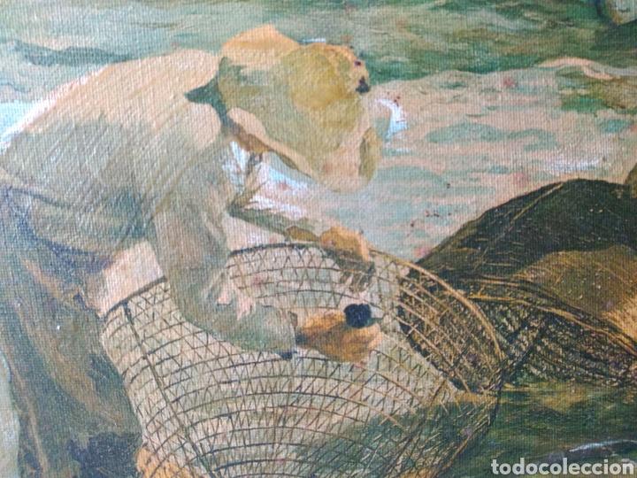 Arte: CUADRO ( SOROLLA - LABORT. FERRER ), ÚNICO! PESCADORES VALENCIANOS. - Foto 4 - 177403664