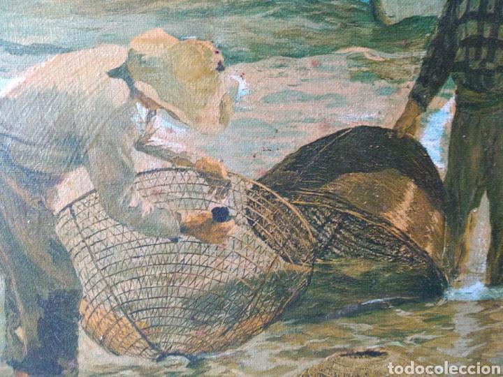 Arte: CUADRO ( SOROLLA - LABORT. FERRER ), ÚNICO! PESCADORES VALENCIANOS. - Foto 6 - 177403664
