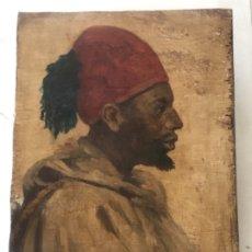 Arte: RETRATO ORIENTALISTA- OLEO SOBRE MADERA. JOSEP TAPIRÓ? FINALES S.XIX.. Lote 177403909
