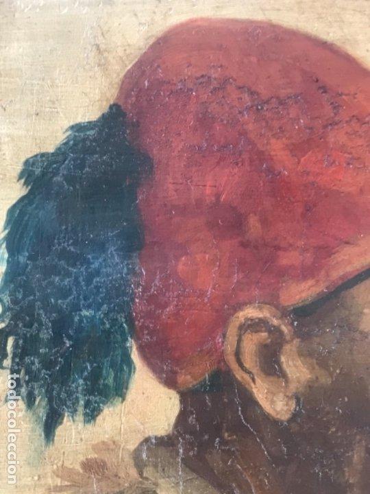 Arte: RETRATO ORIENTALISTA- OLEO SOBRE MADERA. JOSEP TAPIRÓ? FINALES S.XIX. - Foto 8 - 177403909