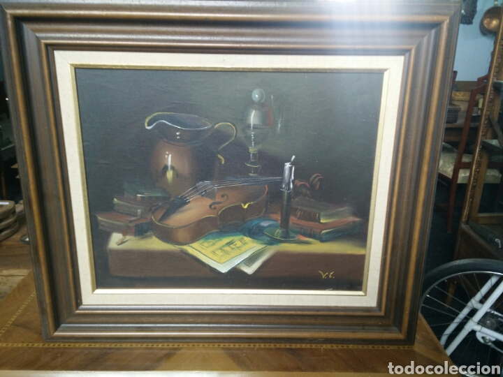 PINTURA BODEGÓN OLEO SOBRE LIENZO (Arte - Pintura - Pintura al Óleo Antigua sin fecha definida)